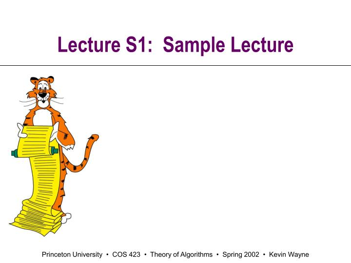 lecture s1 sample lecture n.