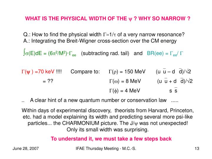 WHAT IS THE PHYSICAL WIDTH OF THE