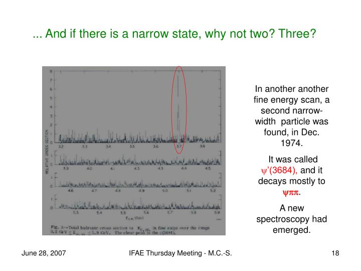 ... And if there is a narrow state, why not two? Three?