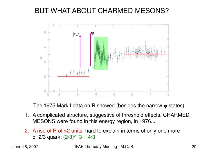 BUT WHAT ABOUT CHARMED MESONS?
