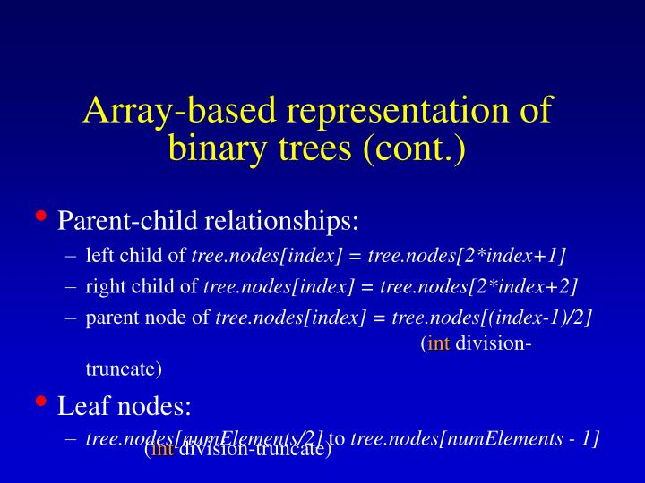 Array-based representation of