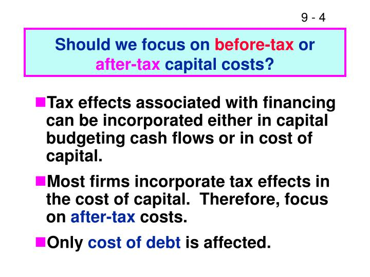 can one size fit all 19 determining the cost of capital Cost of capital is determined by the market and represents the degree of perceived risk by investors when given the choice between two investments of equal risk, investors will generally the return an investor receives on a company security is the cost of that security to the company that issued it.