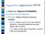 aggressive approach to wcm