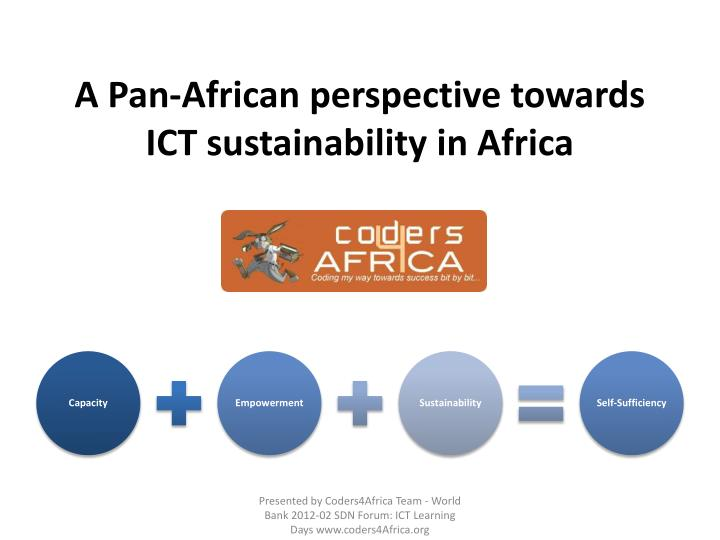A pan african perspective towards ict sustainability in africa