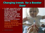 changing trends for a booster dose