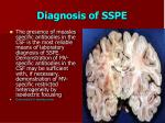diagnosis of sspe