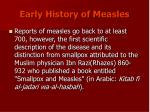 early history of measles