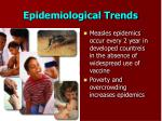 epidemiological trends