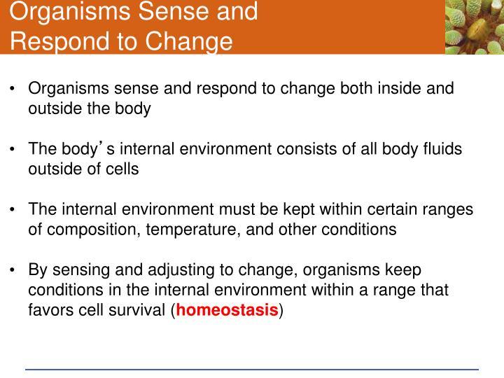 Organisms Sense and