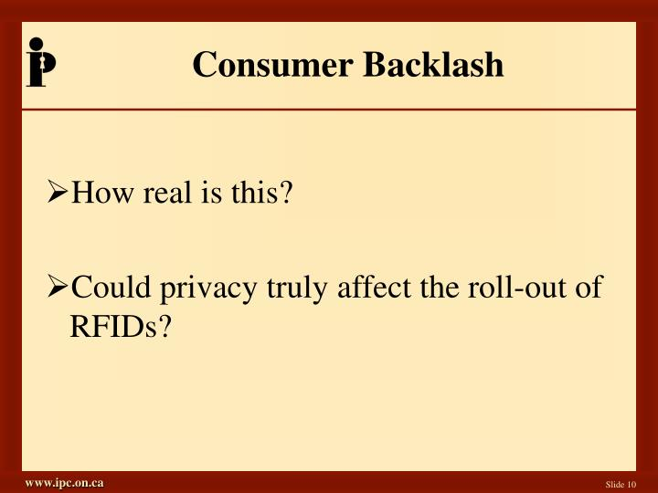 Consumer Backlash