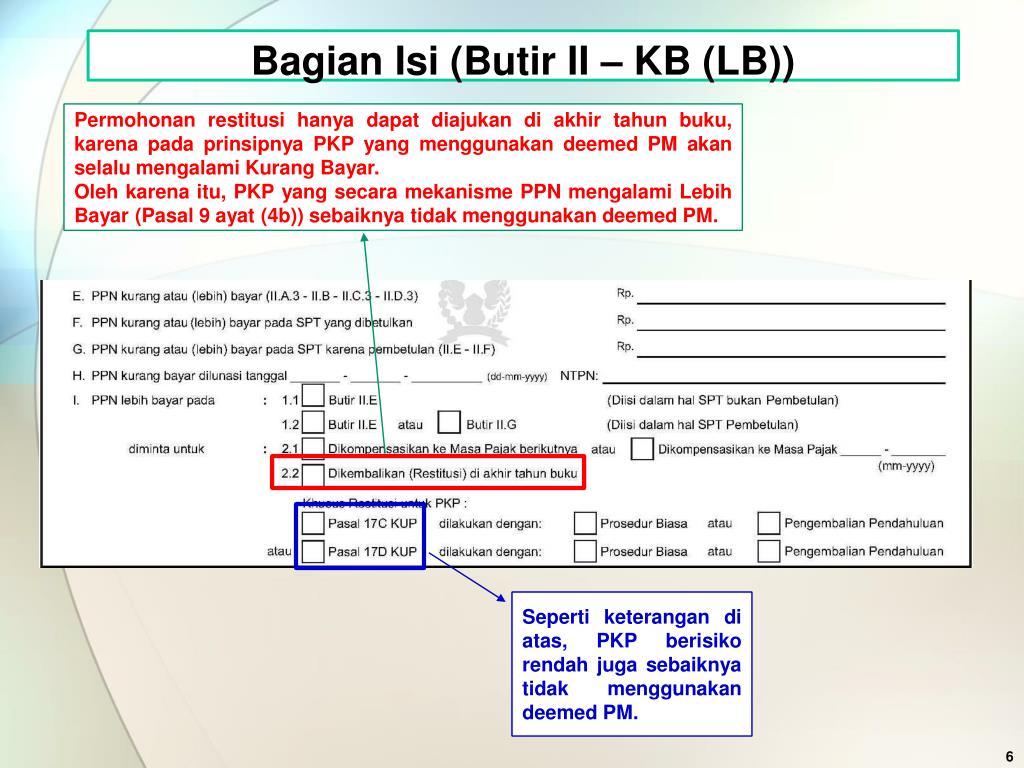 Bagian Isi (Butir II – KB (LB))