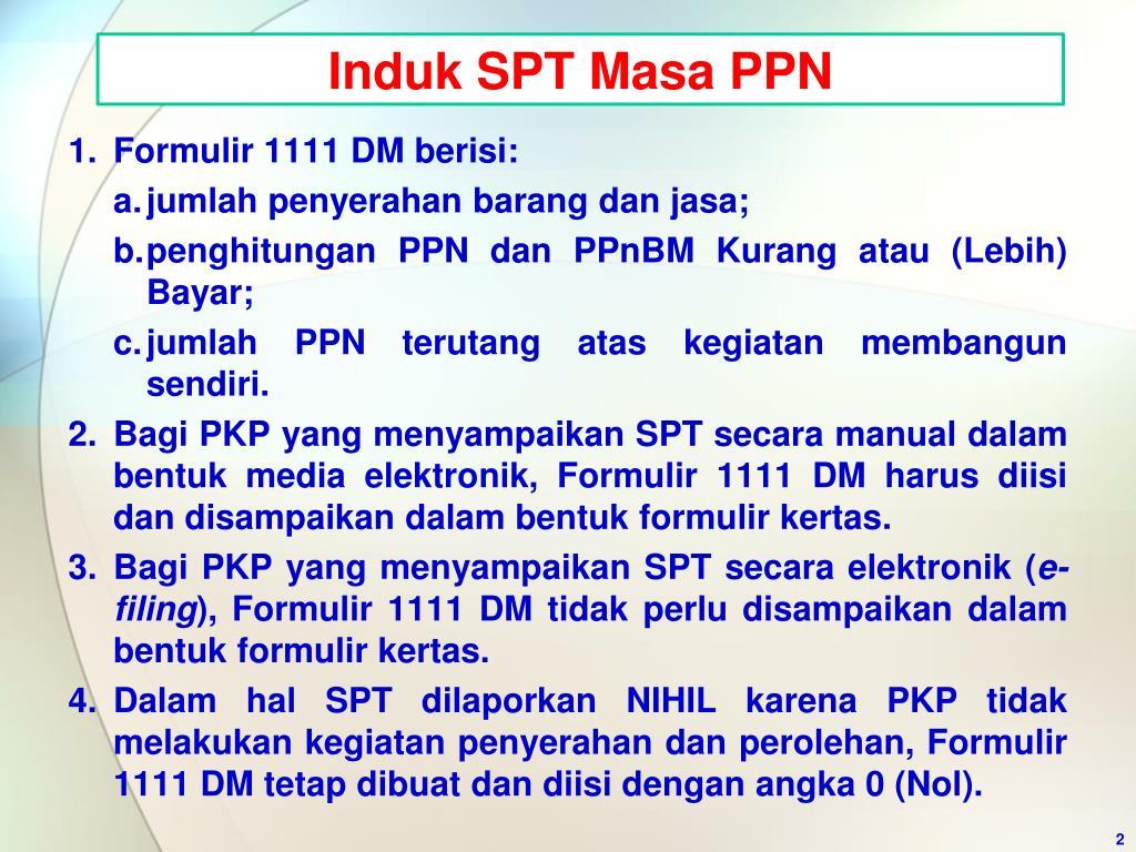 Induk SPT Masa PPN