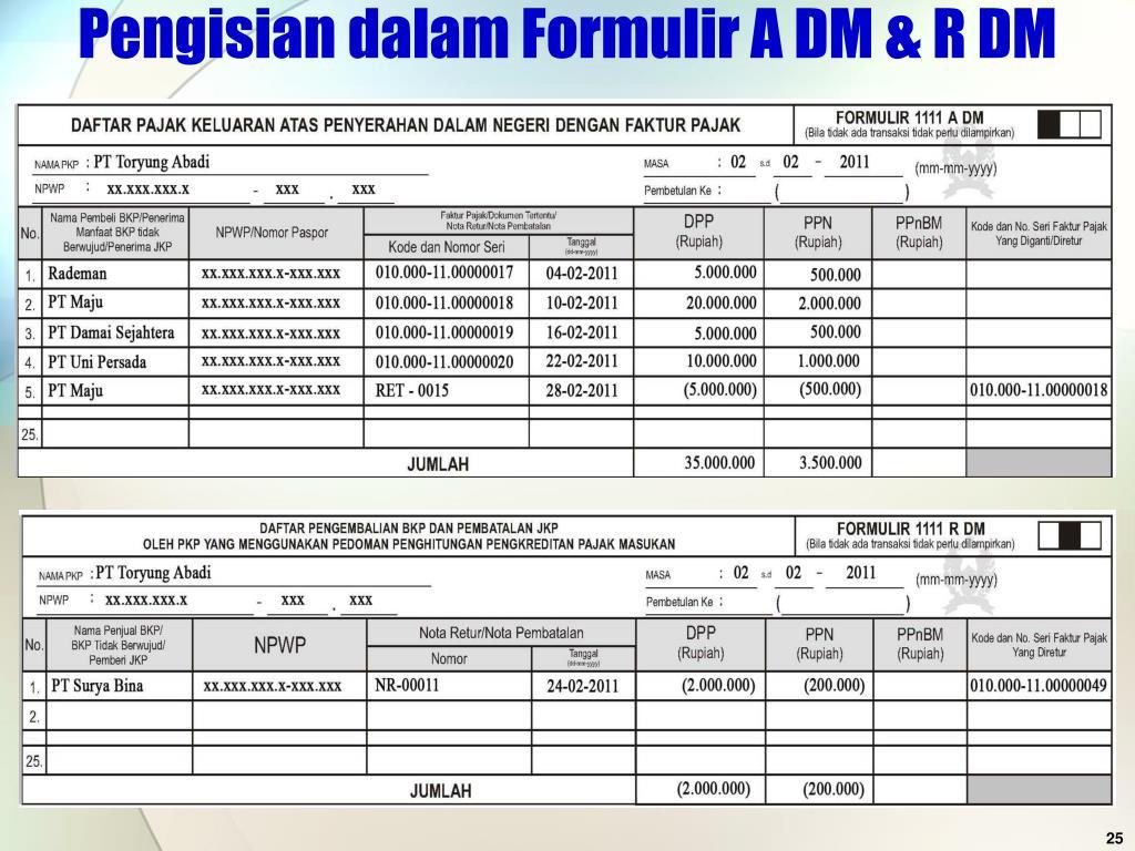 Pengisian dalam Formulir