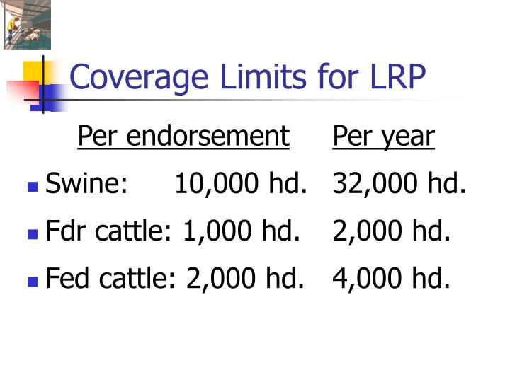 Coverage Limits for LRP