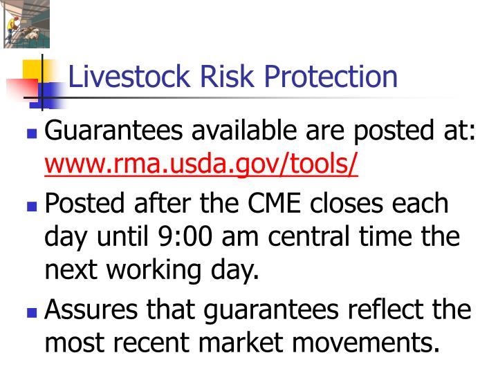 Livestock Risk Protection