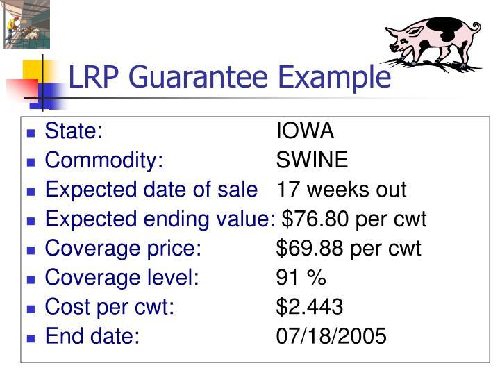 LRP Guarantee Example