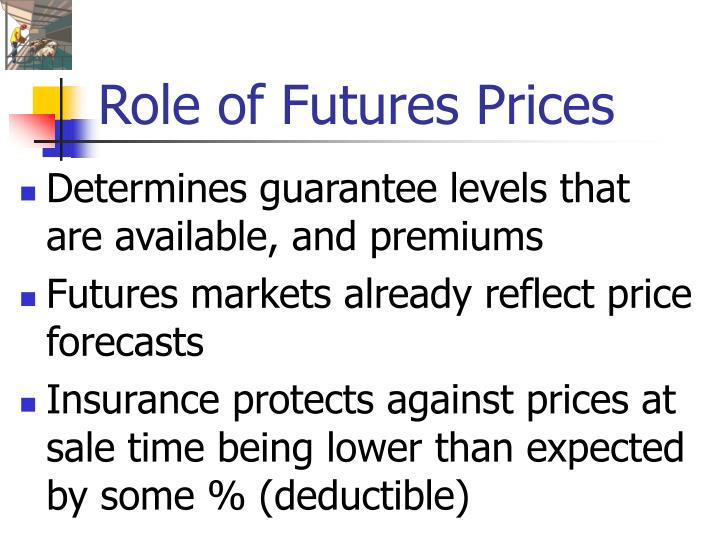Role of Futures Prices
