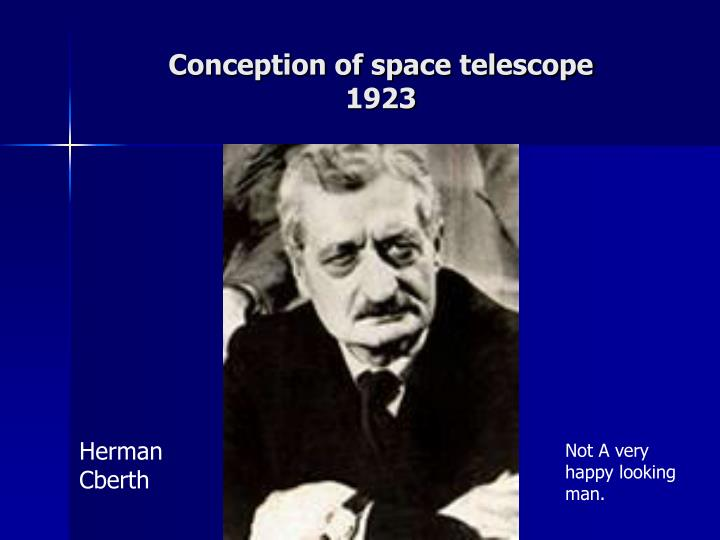 Conception of space telescope