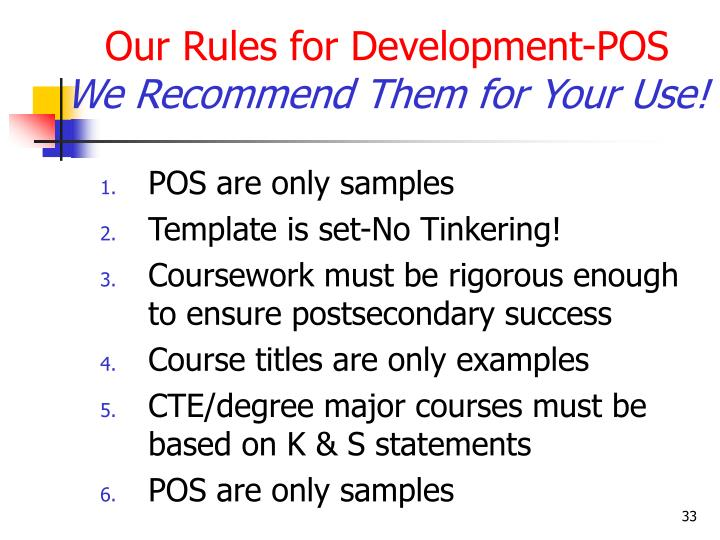 Our Rules for Development-POS