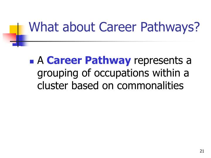 What about Career Pathways?