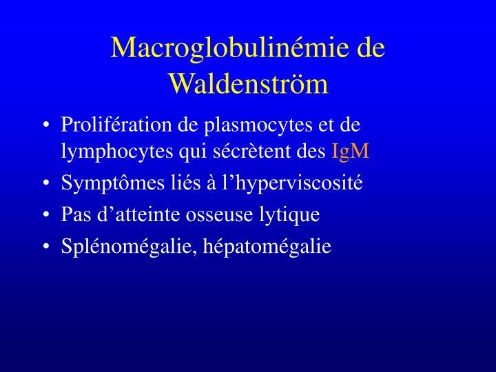 Macroglobulinémie de Waldenström