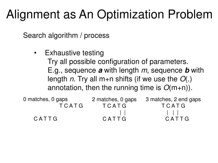 Alignment as An Optimization Problem