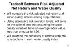 tradeoff between risk adjusted net return and water quality