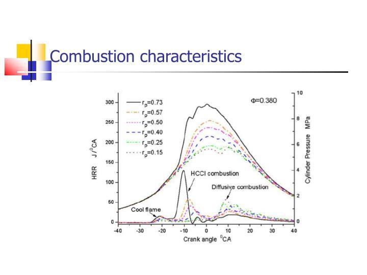 Combustion characteristics