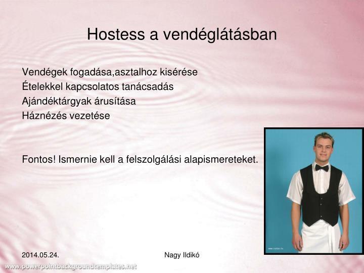 Hostess a vendéglátásban