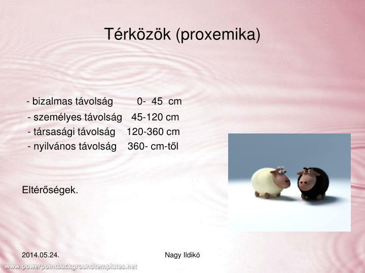 Térközök (proxemika)