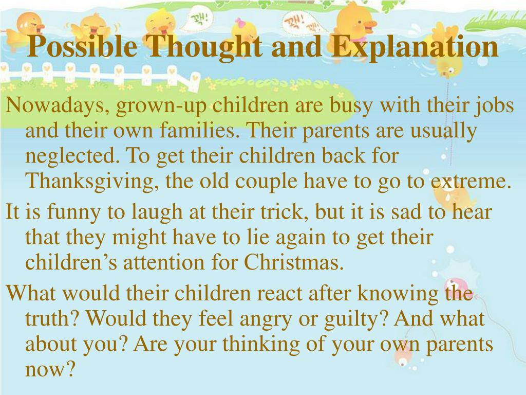 Possible Thought and Explanation