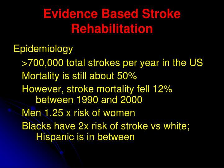 Evidence Based Stroke Rehabilitation