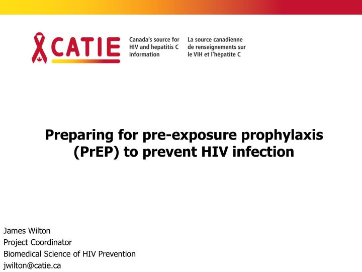preparing for pre exposure prophylaxis prep to prevent hiv infection n.