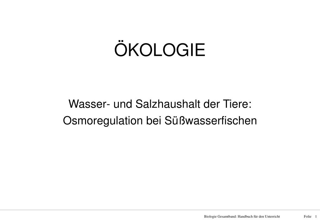PPT - ÖKOLOGIE PowerPoint Presentation - ID:816552