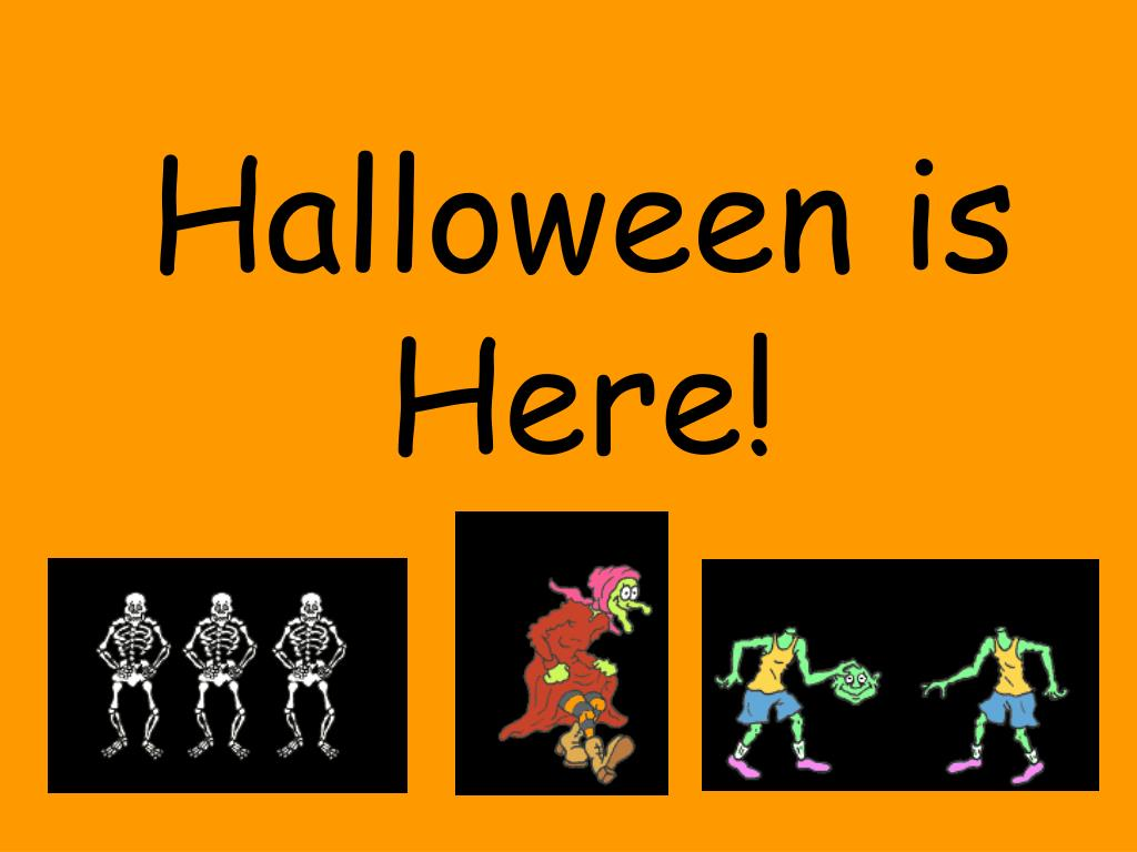 ppt halloween is here powerpoint presentation id 816588