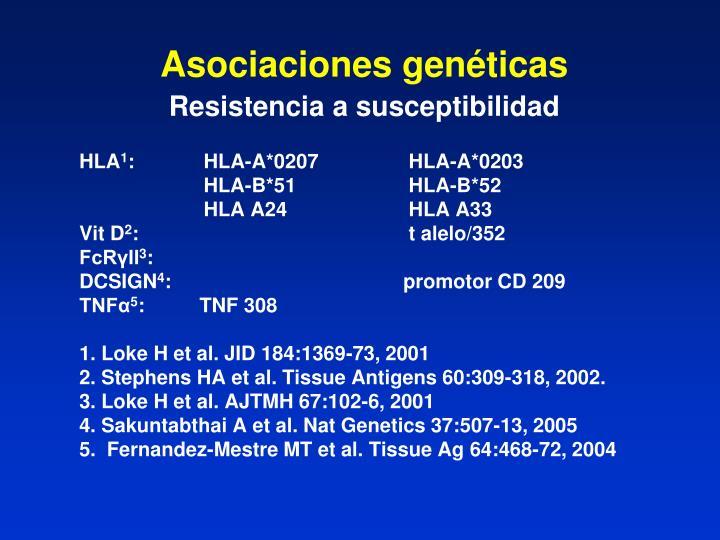Asociaciones genéticas