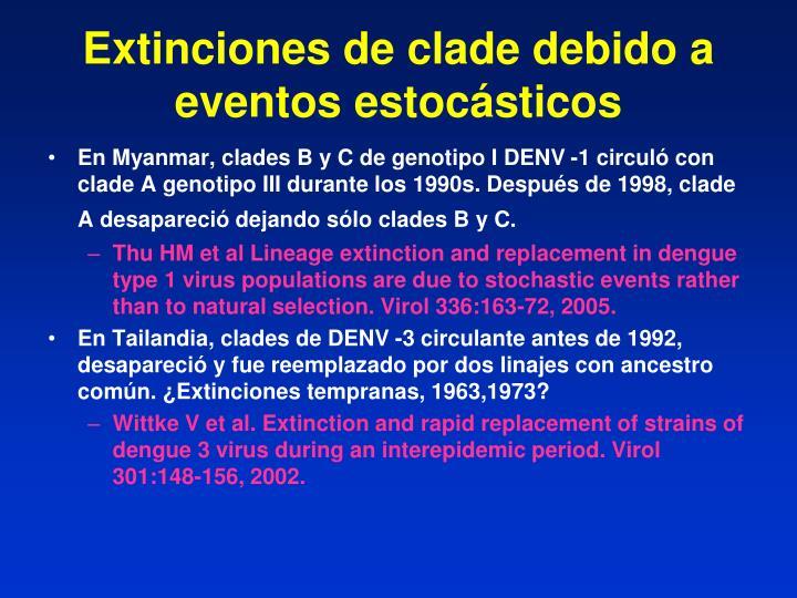 Extinciones de clade debido a eventos estocásticos