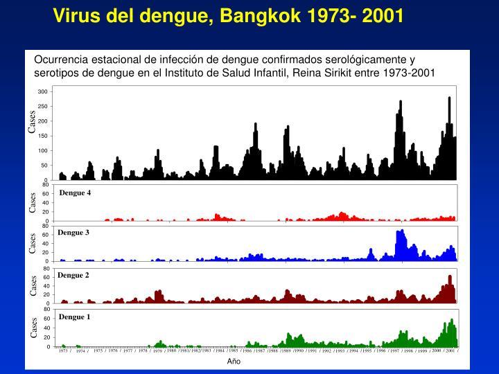 Virus del dengue, Bangkok 1973- 2001