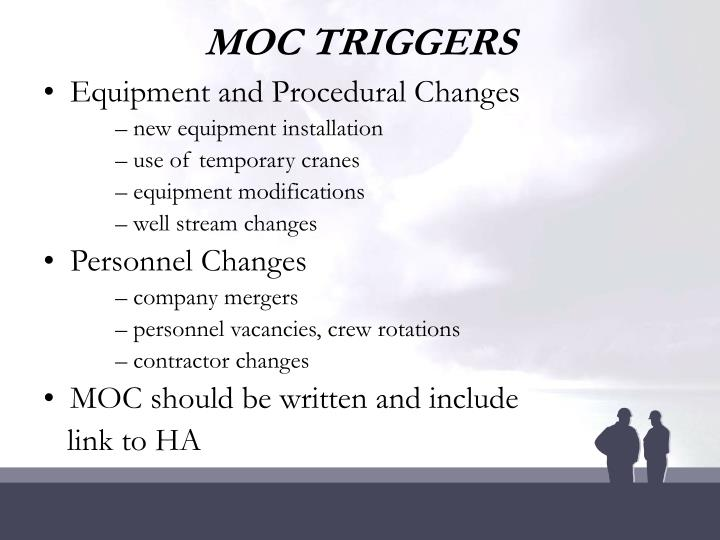 MOC TRIGGERS