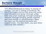 barbara waugh worldwide personnel manager hp labs