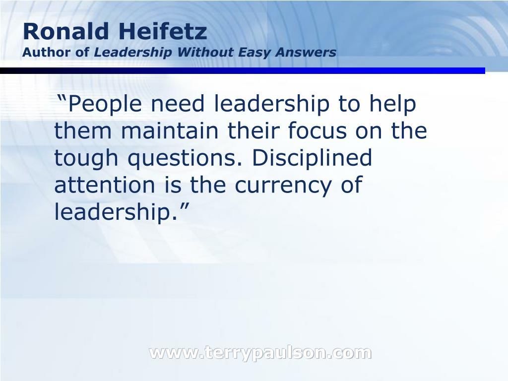 Ronald Heifetz