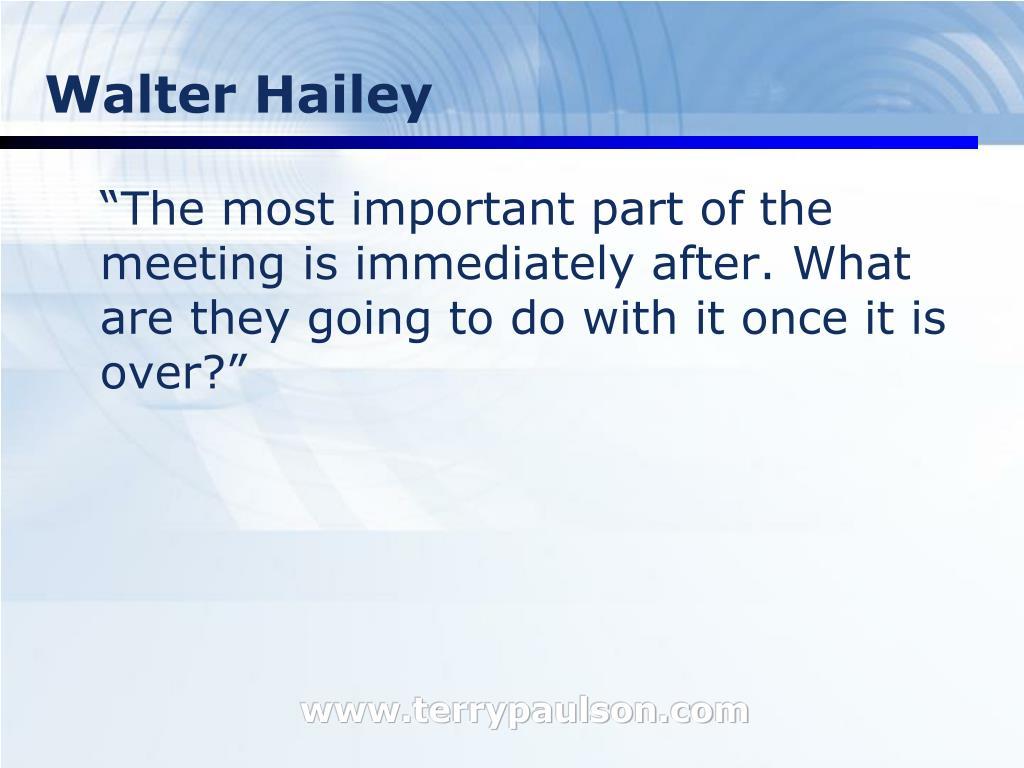 Walter Hailey