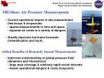 off shore air pressure measurements
