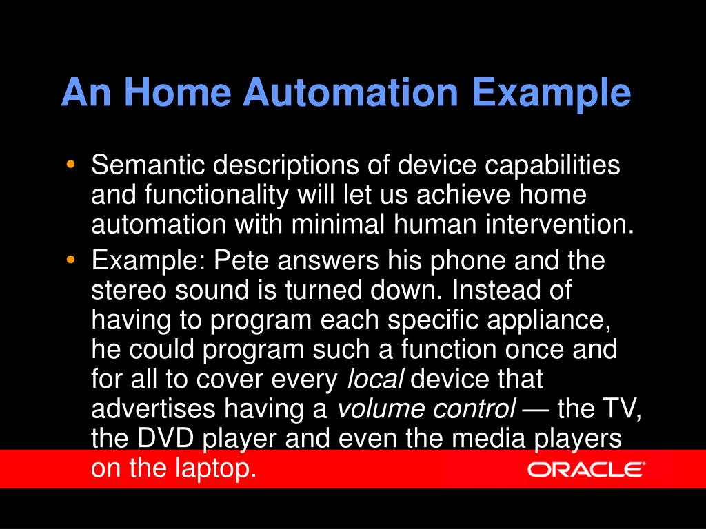 An Home Automation Example