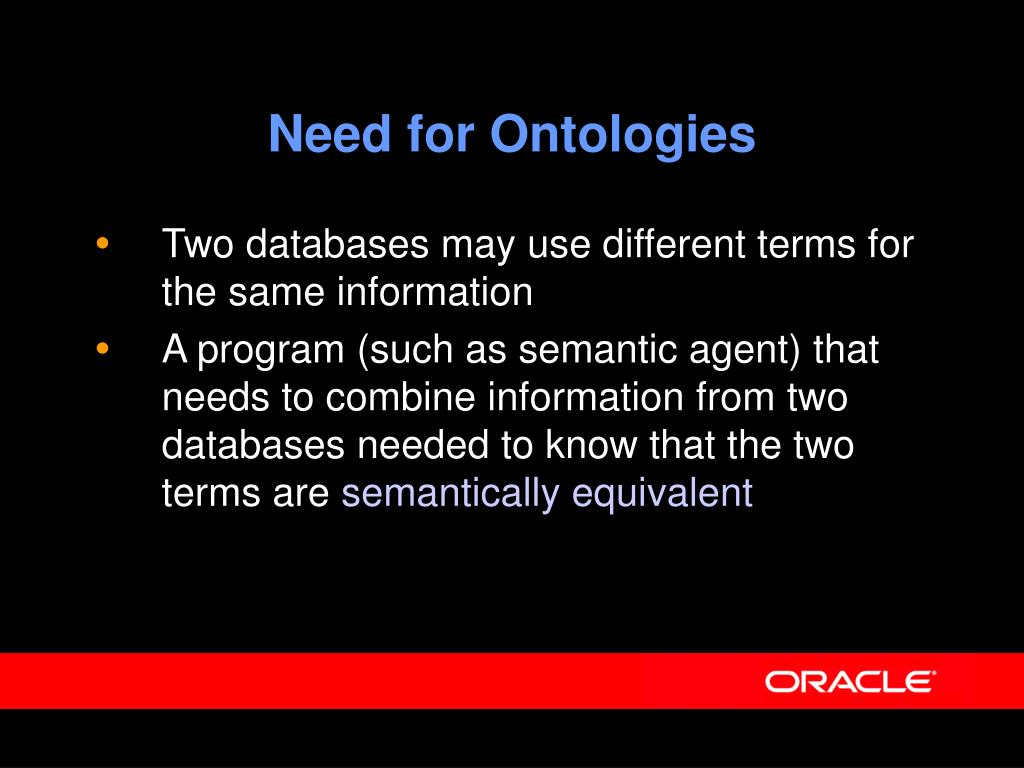 Need for Ontologies
