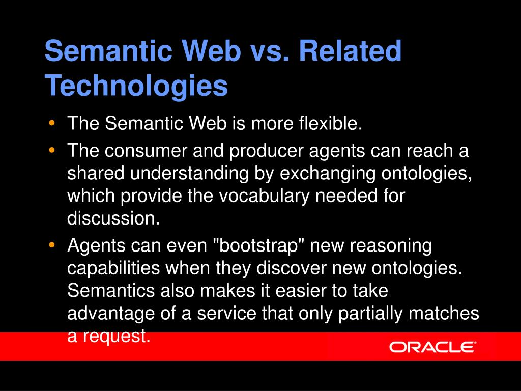 Semantic Web vs. Related Technologies