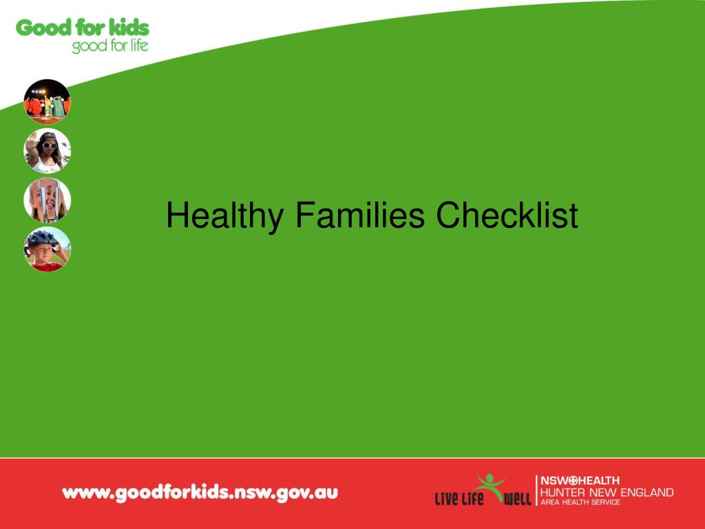 Healthy Families Checklist