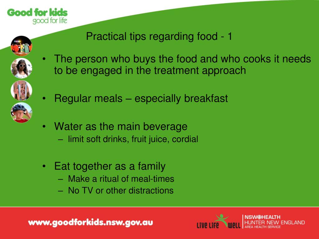 Practical tips regarding food - 1
