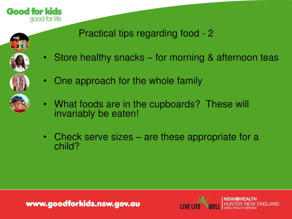 Practical tips regarding food - 2