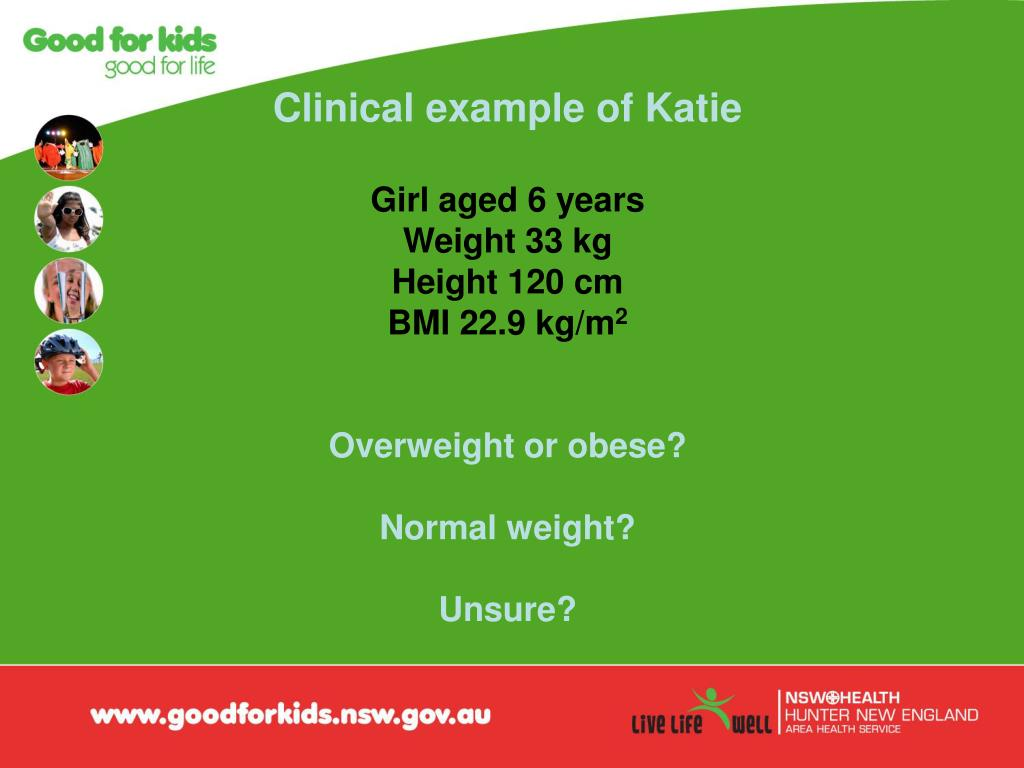 Clinical example of Katie